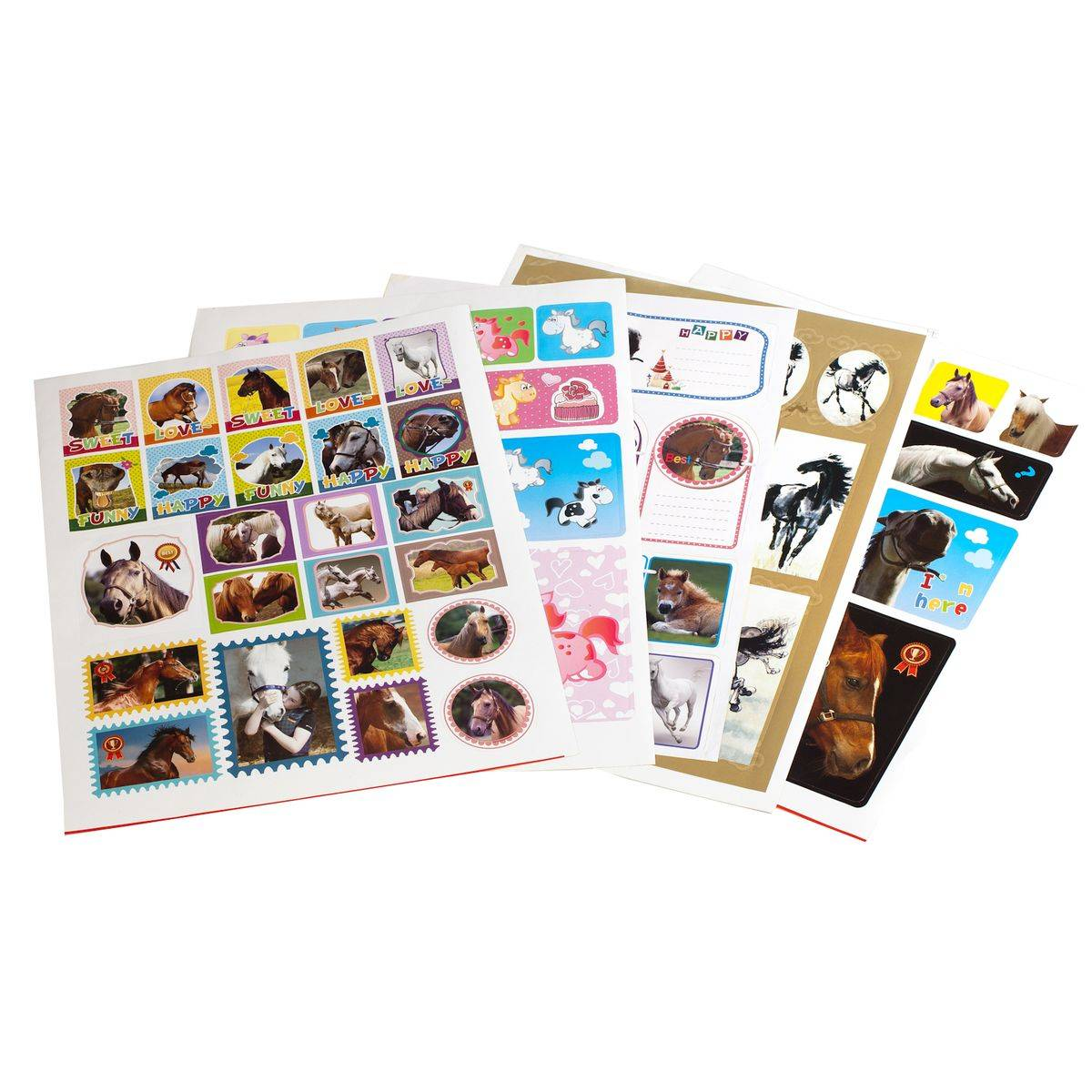 HorZe Set Of Stickers 5 Sheets