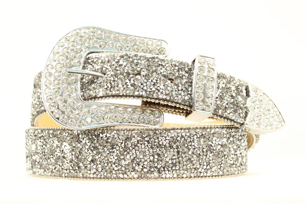 ARIAT Ladies Clear Crystal Chipped Belt