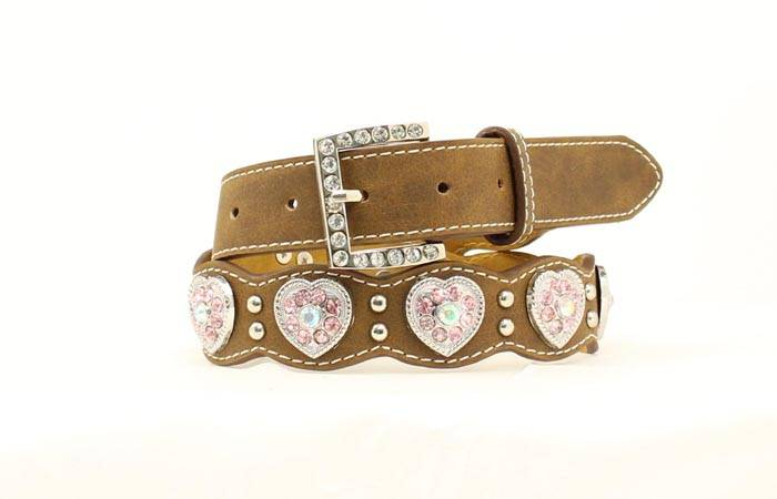 Nocona Girls Scallop & Heart Concho Belt