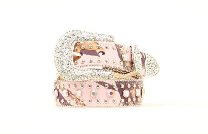Nocona Girls Mossy Oak Rhinestone Belt