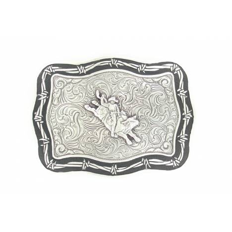 Crumrine Vintage Bull Rider with Barbwire Edge Buckle