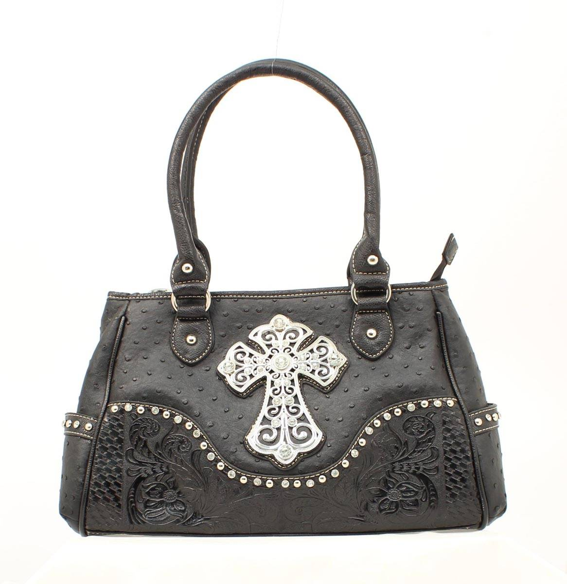 Blazin Roxx Ostrich Cross Satchel Bag