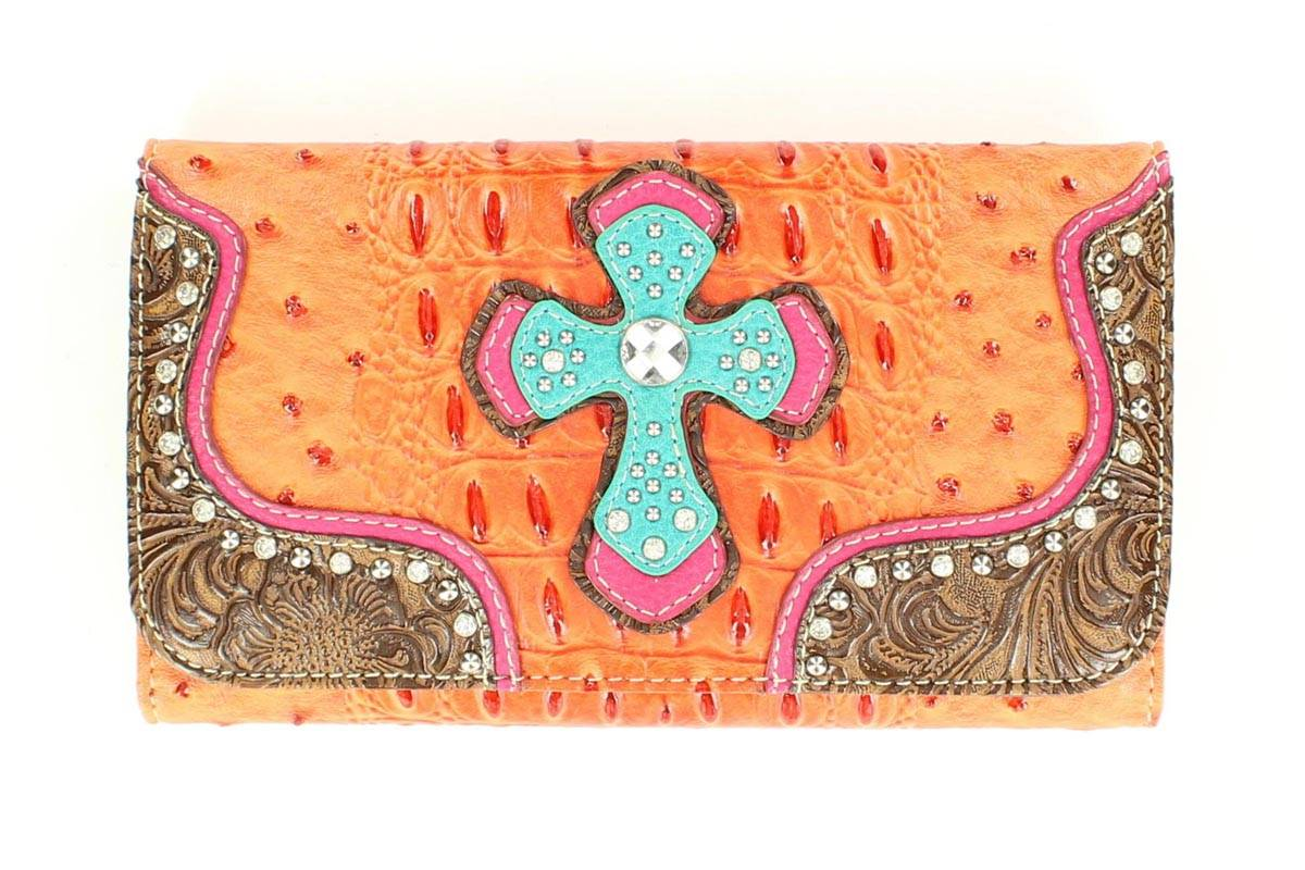 Blazin Roxx Croco Double Cross Wallet