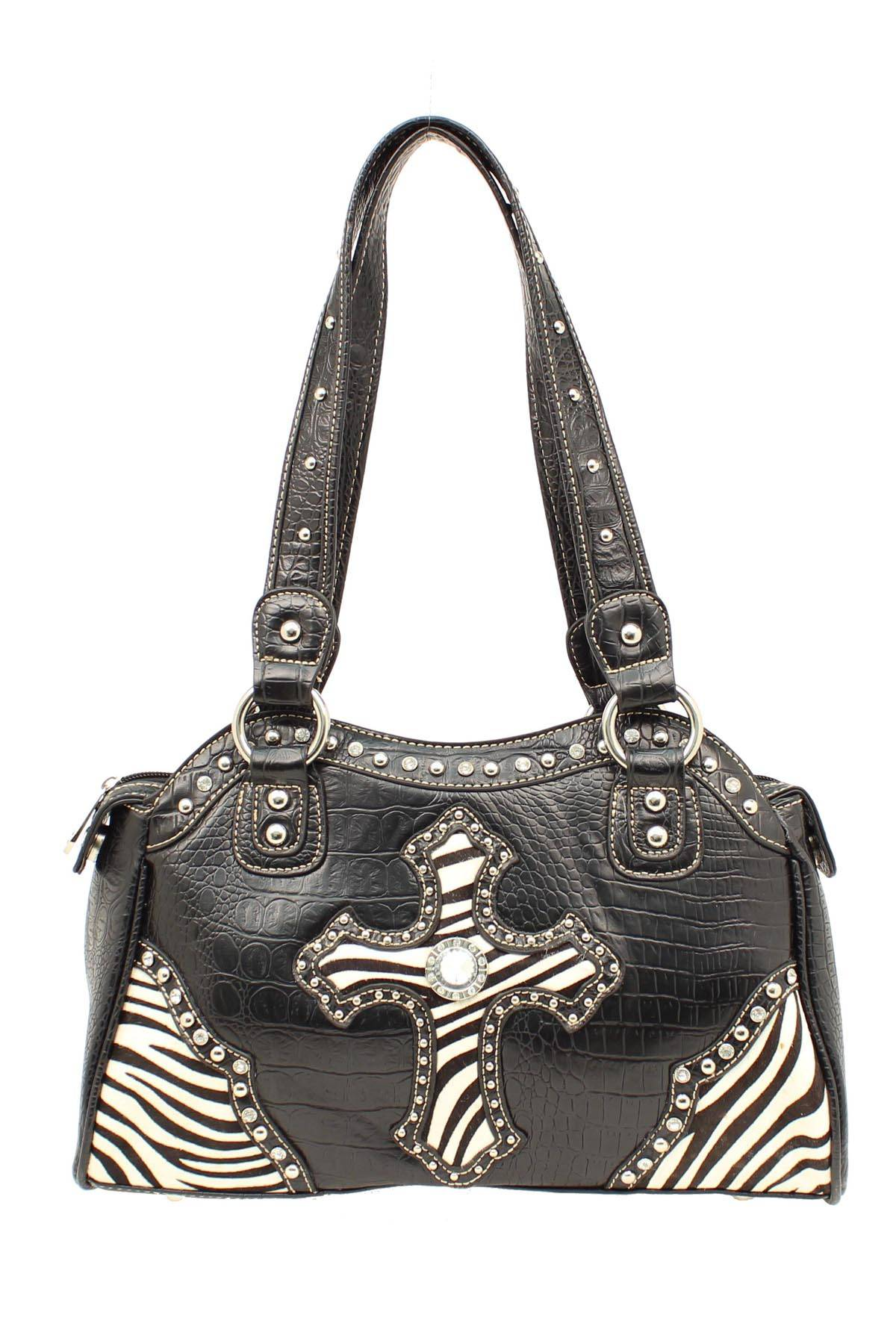Blazin Roxx Zebra Cross Satchel