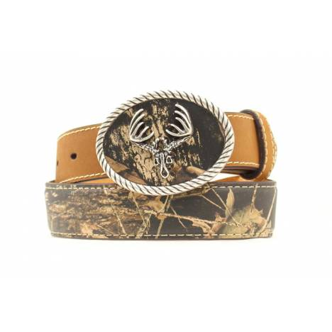 Nocona Boys Mossy Oak Breakup Belt with /Deerskull Buckle