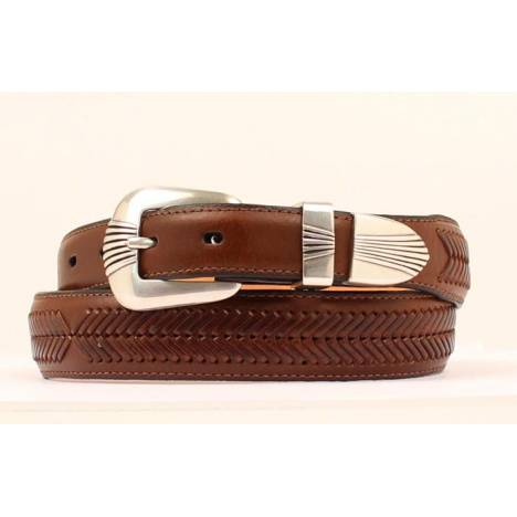 Nocona Mens Taper Belt with stitching