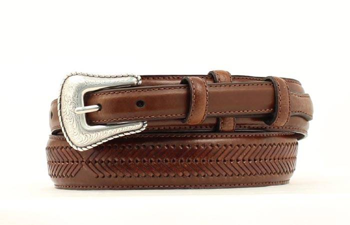 Nocona Mens Top Hand Ranger Arrow Lace Belt