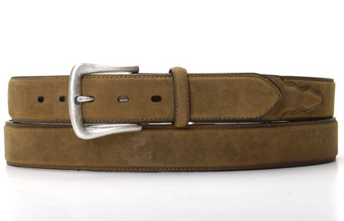 Nocona Mens Work Belt with Distressed Overlay