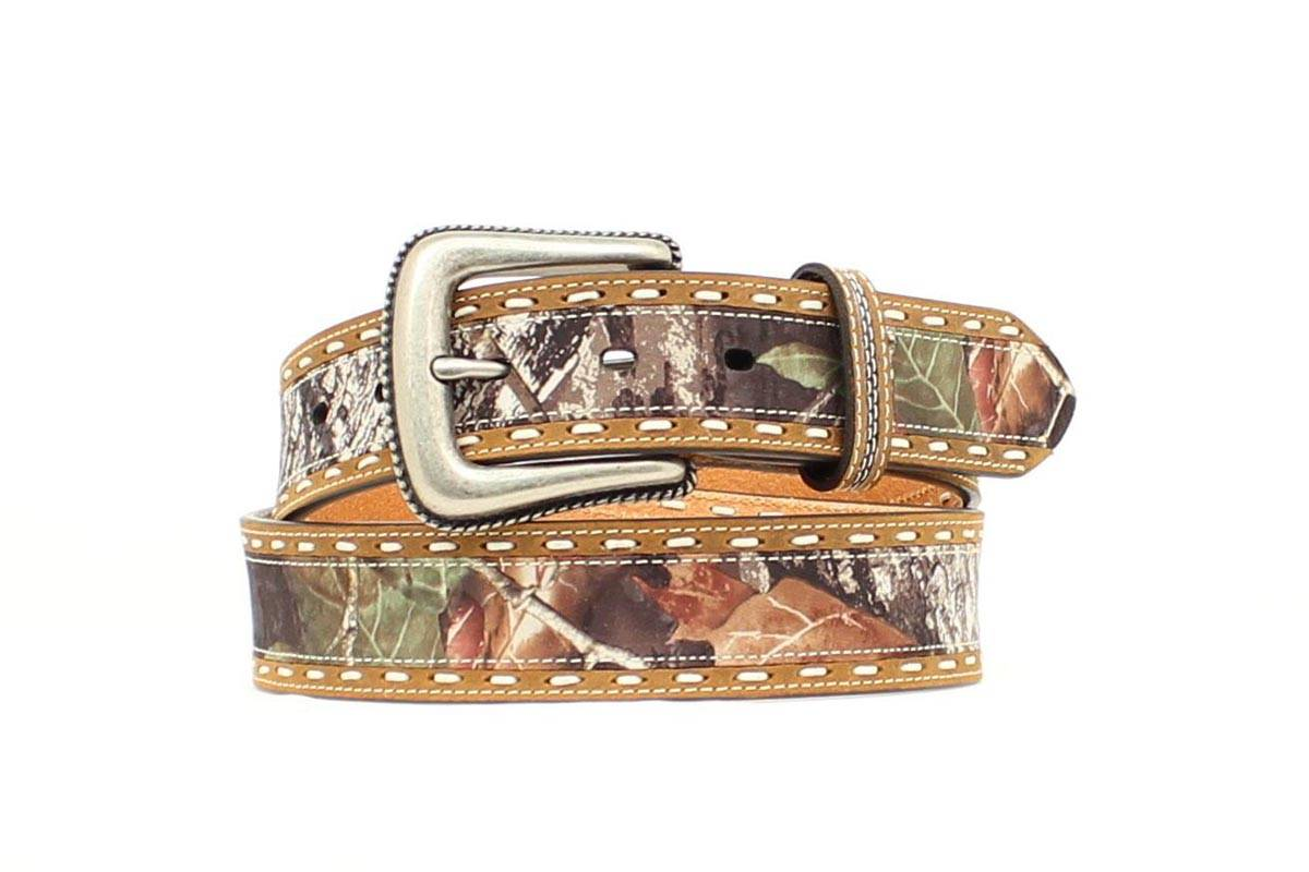 Nocona Men's Overlay Breakup Belt with Stitching