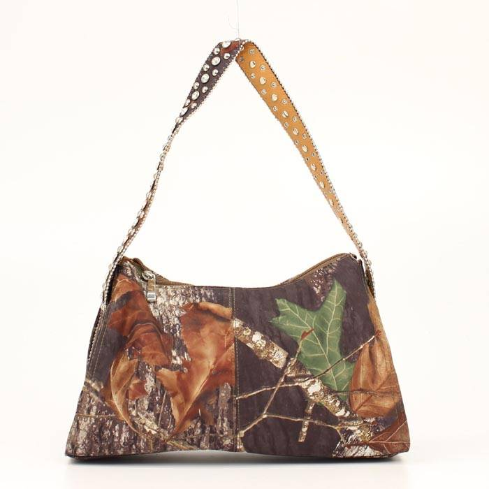 Blazin Roxx Small Camo Handbag with Crystal Strap