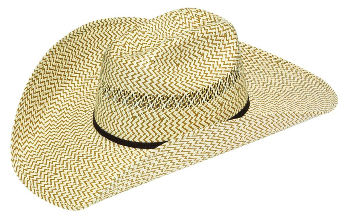Twister 4 1/2'' Brim Brown Ivory Hat