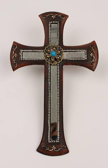 Western Moments Wall Cross with Mirror