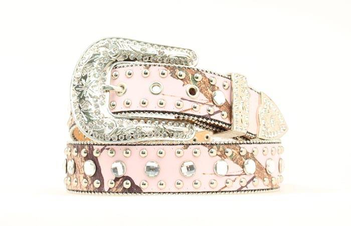 Blazin Roxx Ladies Mossy Oak Crystal Belt