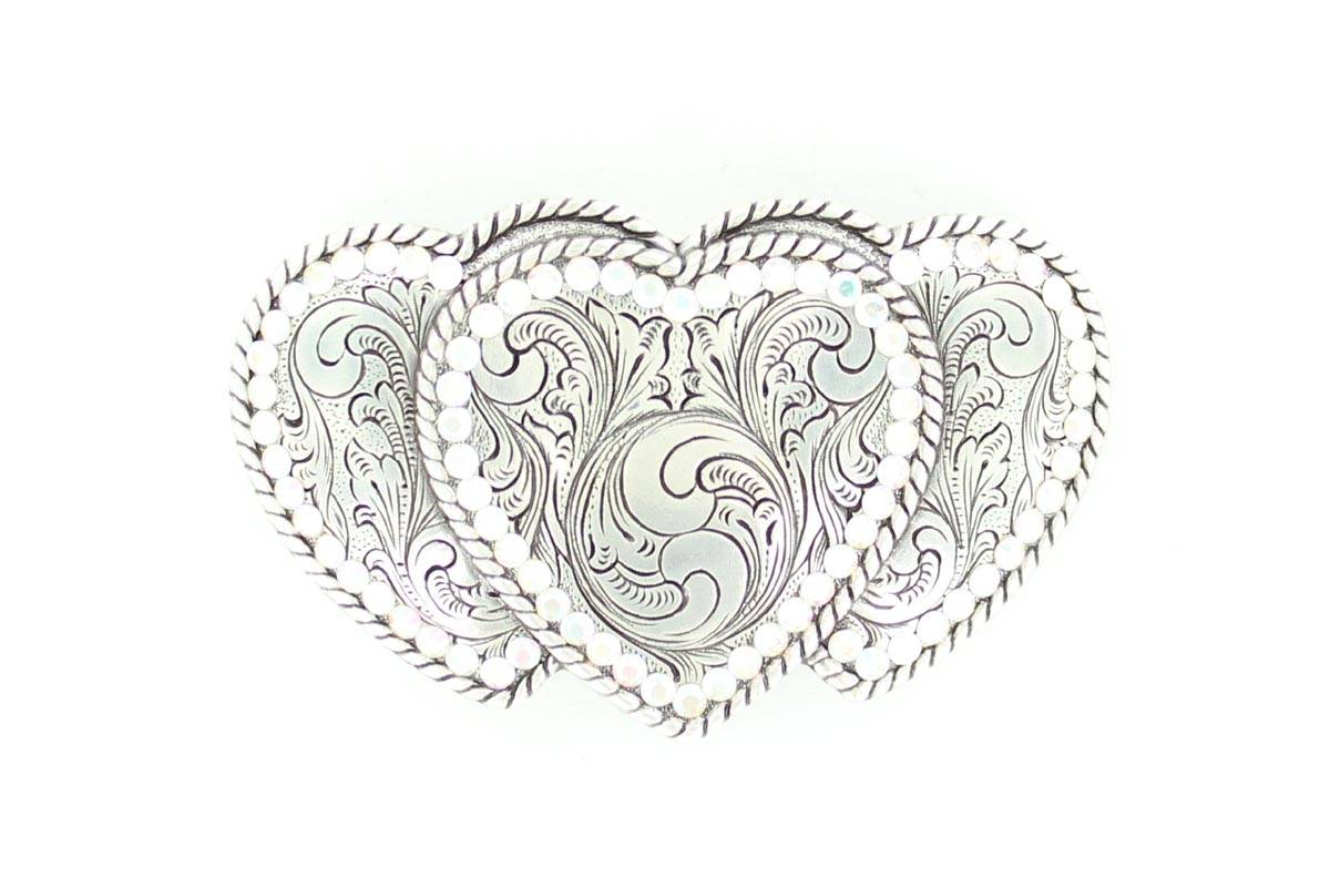 Nocona Triple Heart Buckle