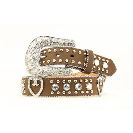 Blazin Roxx Ladies Crystal & Rhinestone Heart Belt
