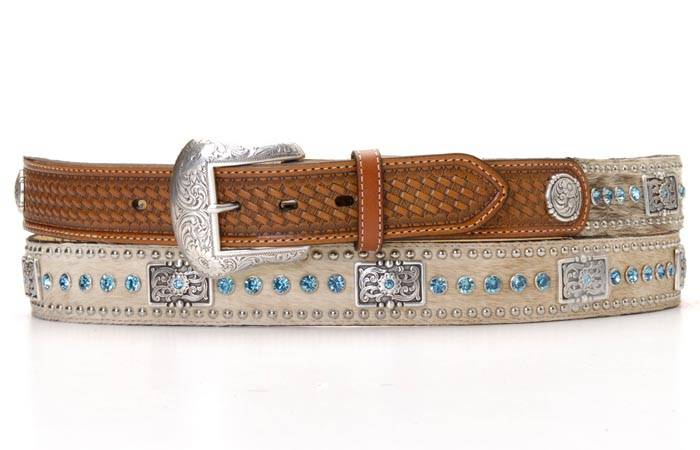 Nocona Stones & Bars Mens Belt