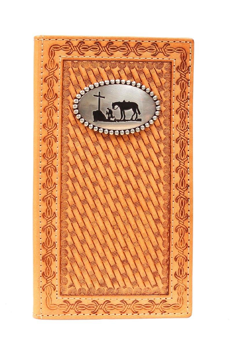 Nocona Men's Rodeo Basket Weave Wallet