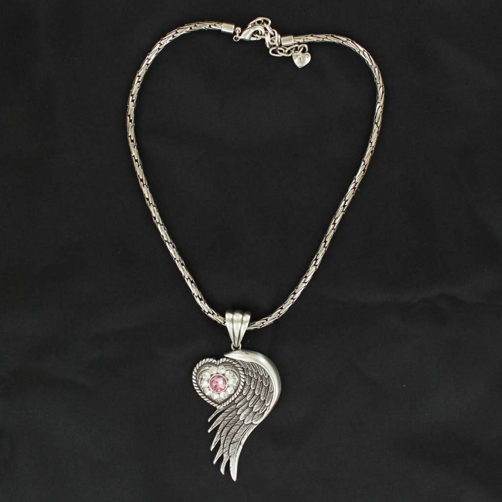 Blazin Roxx Heart/Wing Necklace