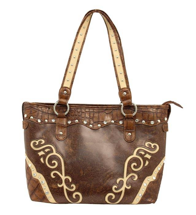 Blazin Roxx Scroll and Rhinestone Tote