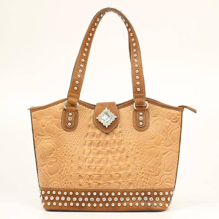 Blazin Roxx Diamond Croc Bucket Bag