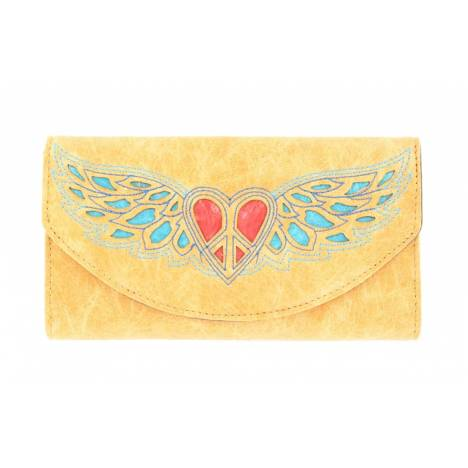 Blazin Roxx Heart and Wing Design Wallet