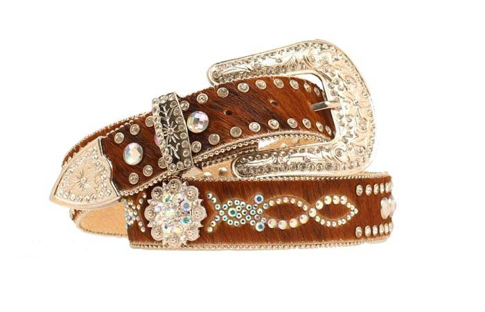Nocona Ladies Calf Hair with Berry Conchos and Studs
