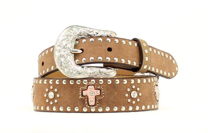 Nocona Girls Inlay Heart/Cross Belt