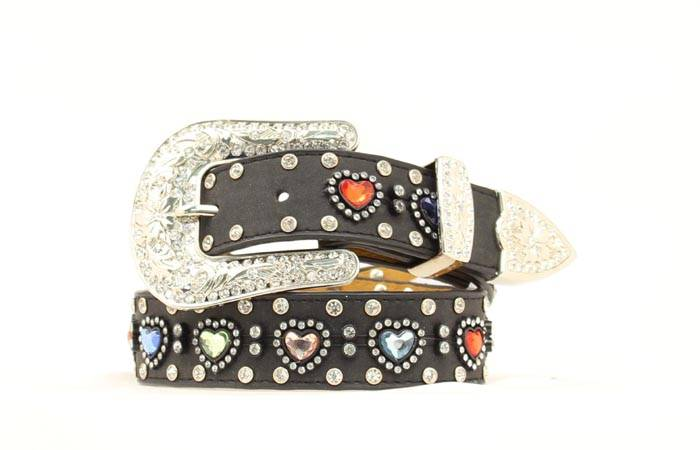 Nocona Girls Multi Heart Bling Belt