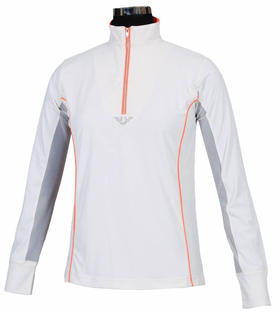 TuffRider Ladies' Neon Mock Zip Sport Shirt