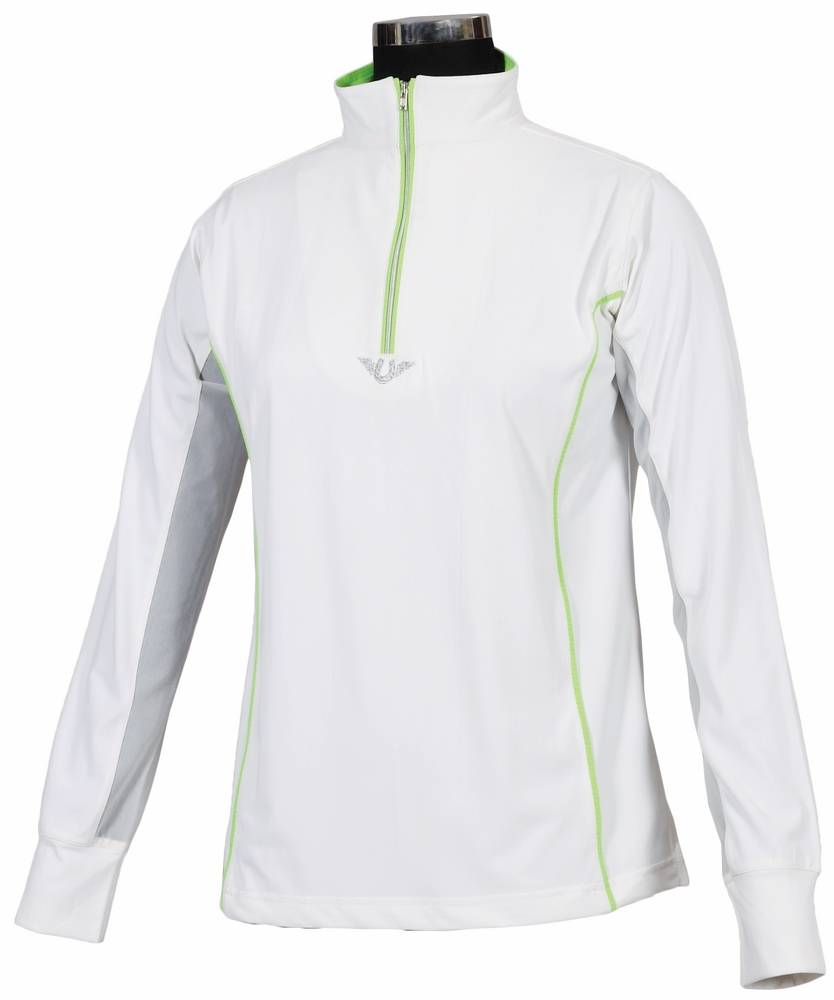 TuffRider Ladies Neon Mock Zip Sport Shirt