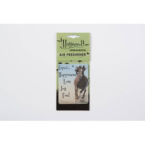 Hayseed Horse Inspirational Air Freshener - Expect Happiness