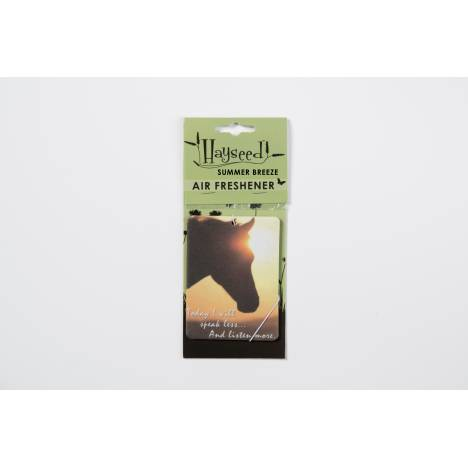 Hayseed Horse Inspirational Air Freshener - Today I will Speak Less