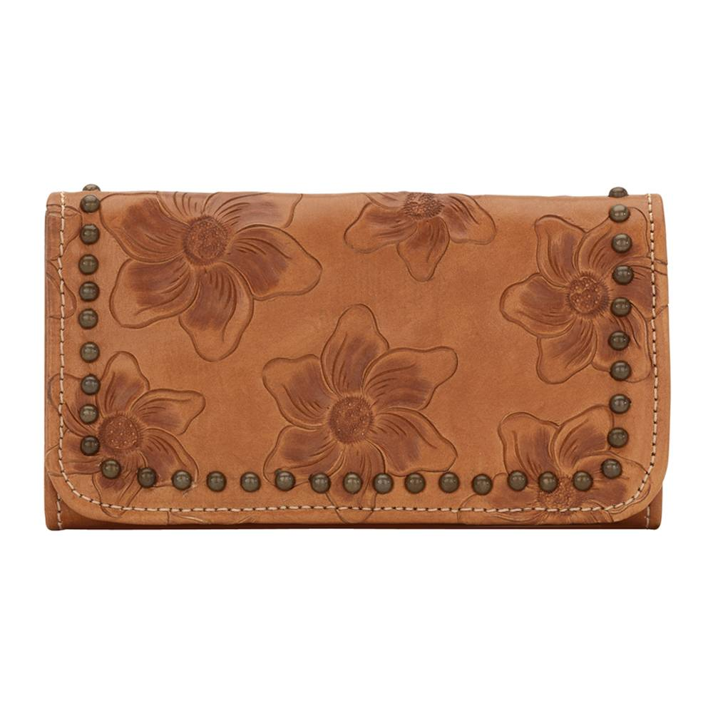 American West Flower Kids Ladies' Tri-Fold Wallet