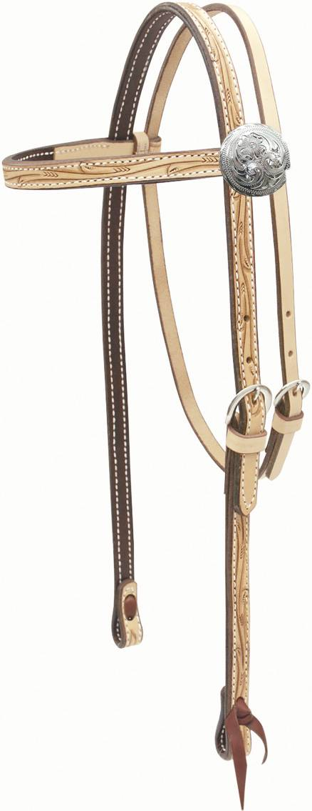 Billy Cook Saddlery Browband Floral Headstall