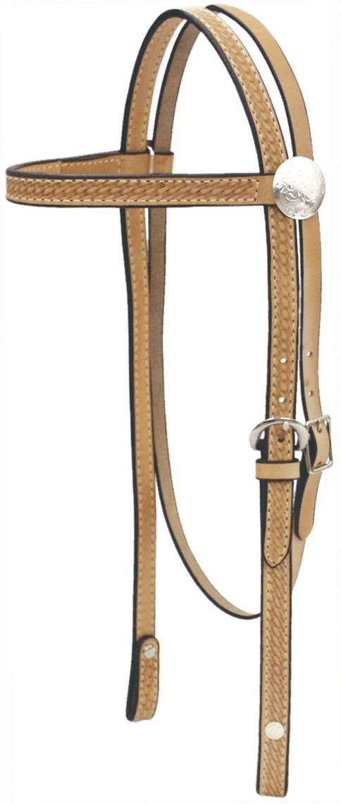 Billy Cook Saddlery Sparkle Browband Basket Headstall