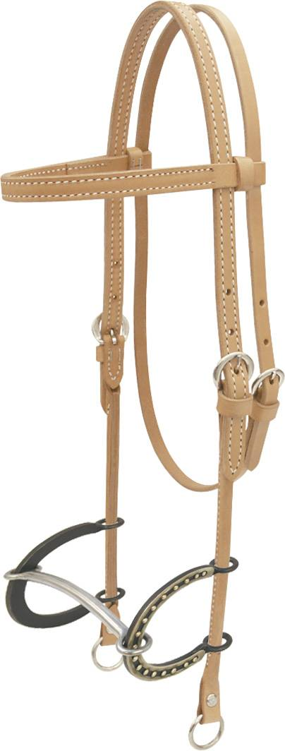 Billy Cook Saddlery Mullen Headstall with Cc Bit