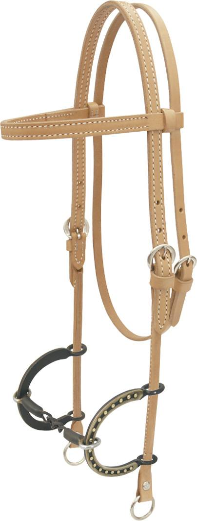 Billy Cook Saddlery Chain Headstall with Cc Bit