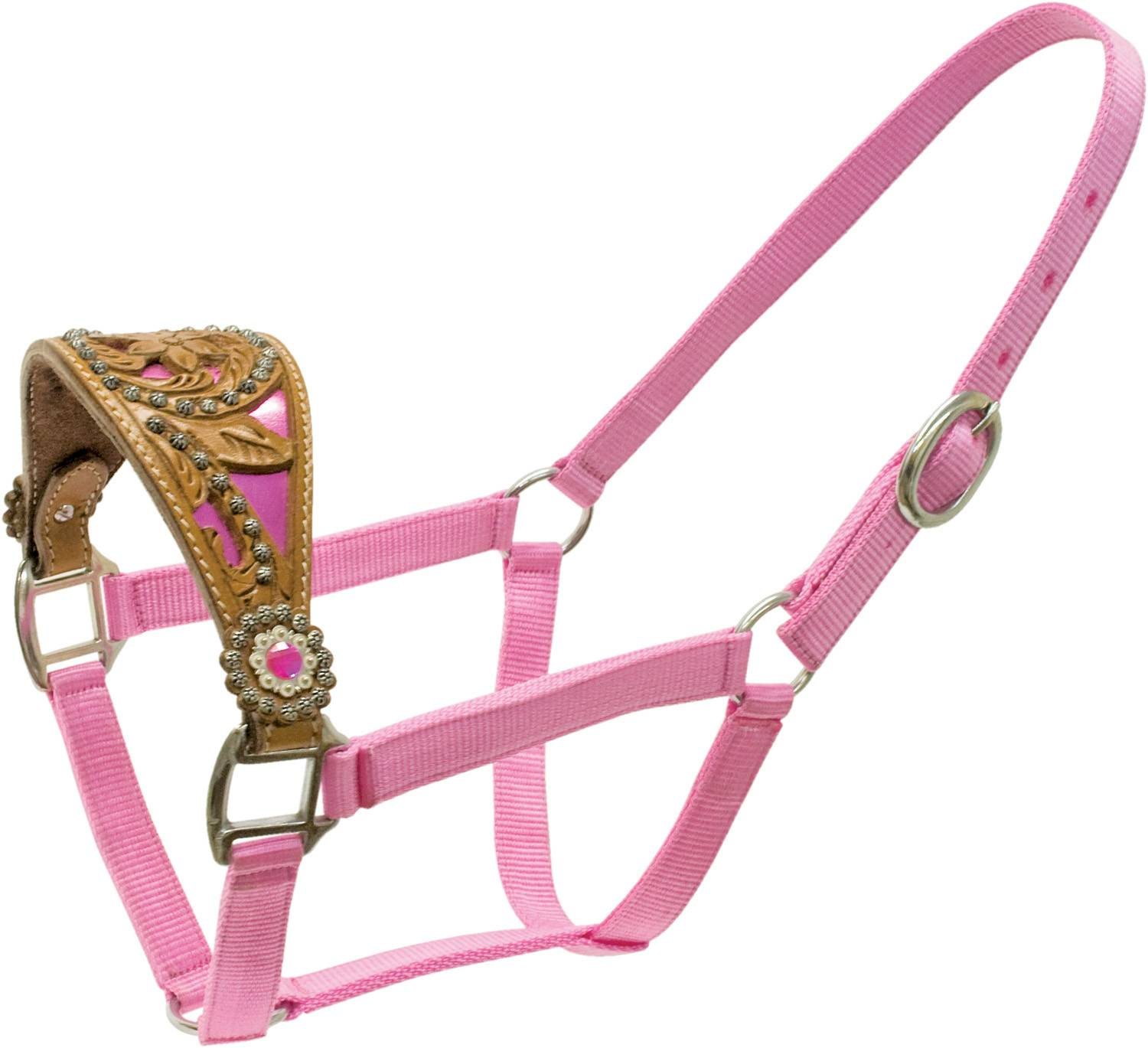 ABETTA Halter with Metallic Filigree Noseband