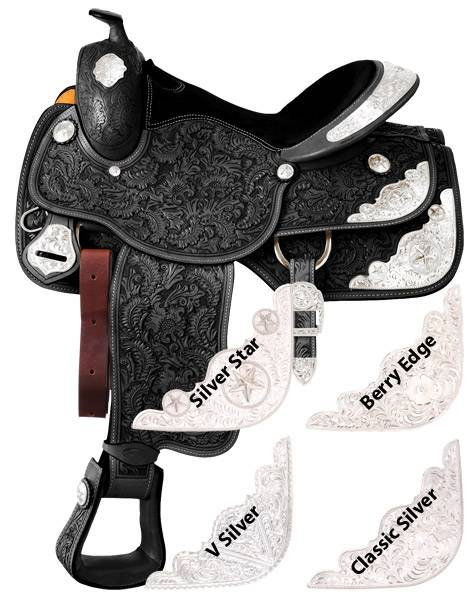 Silver Royal Youth Grandview Silver Show Saddle - Classic Silver Trim