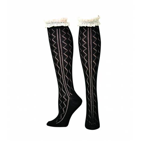 Blazin Roxx Knee Length Lacey Boot Sock