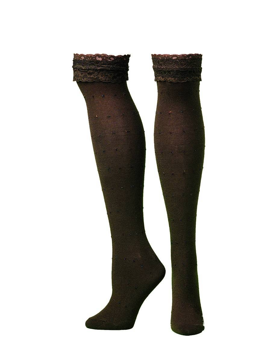 Blazin Roxx Knee Length Lacey Top Boot Sock