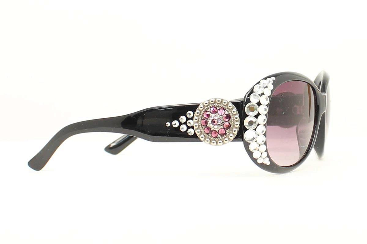 Blazin Roxx Womens Round Crystal Sunglasses