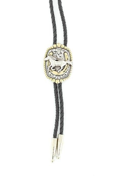 Double S Running Horse Bolo