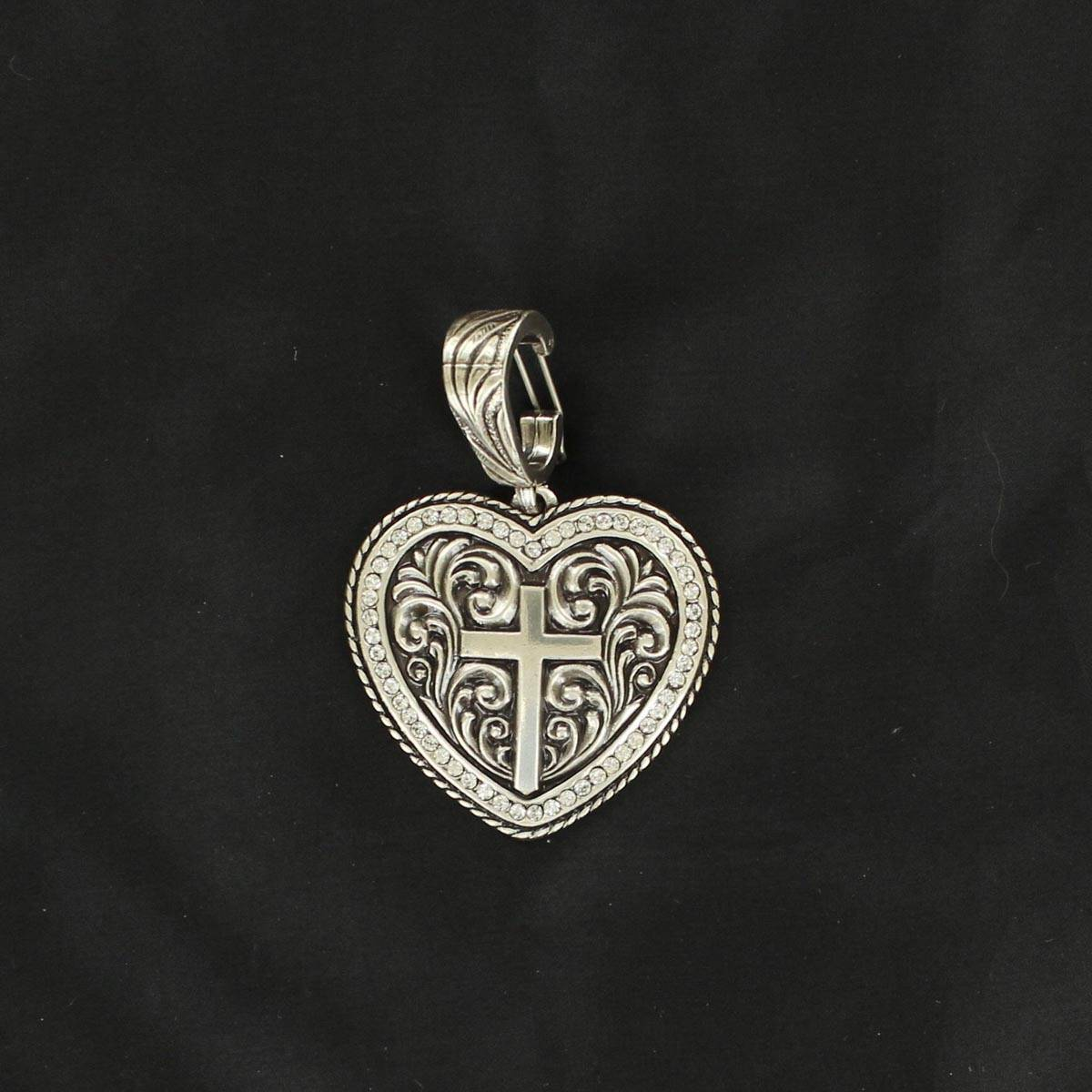 Western Charm Heart/Cross Pendant