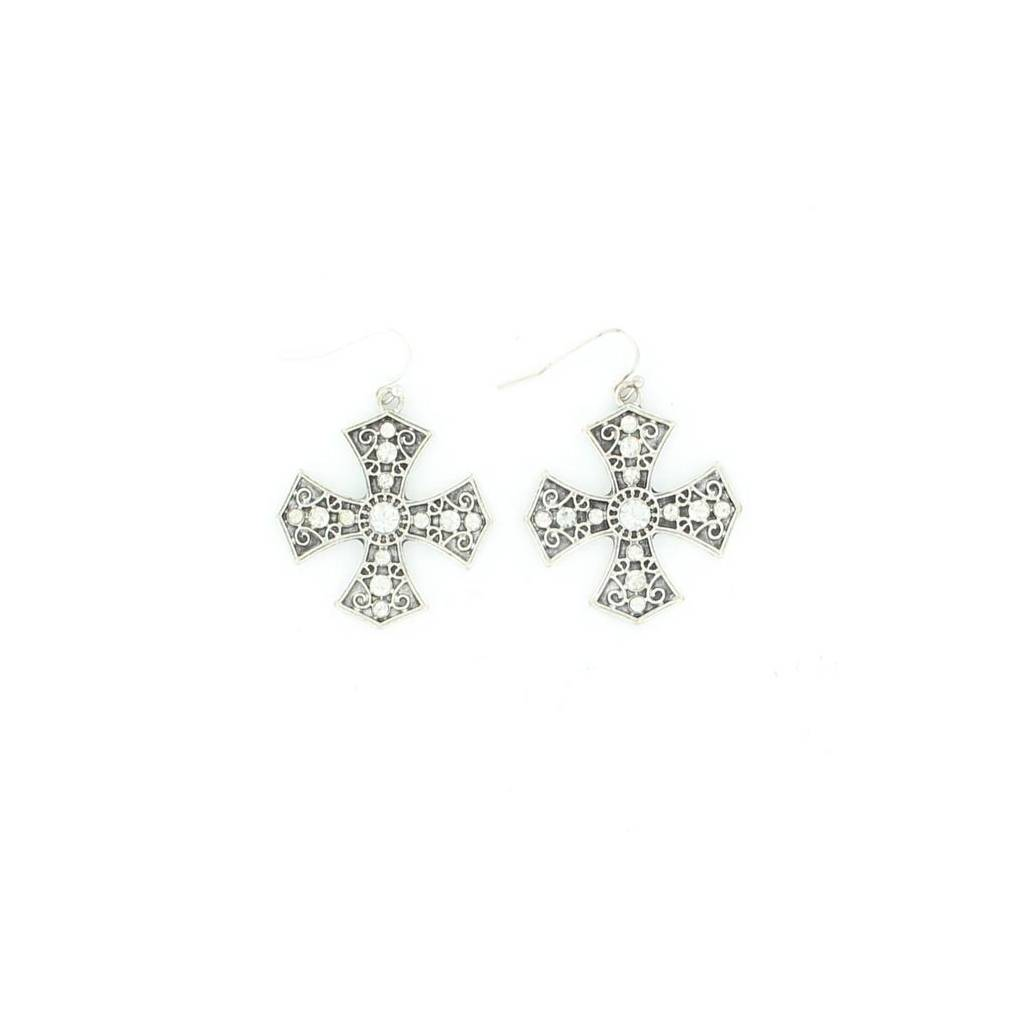 Blazin Roxx Maltese Cross Earrings