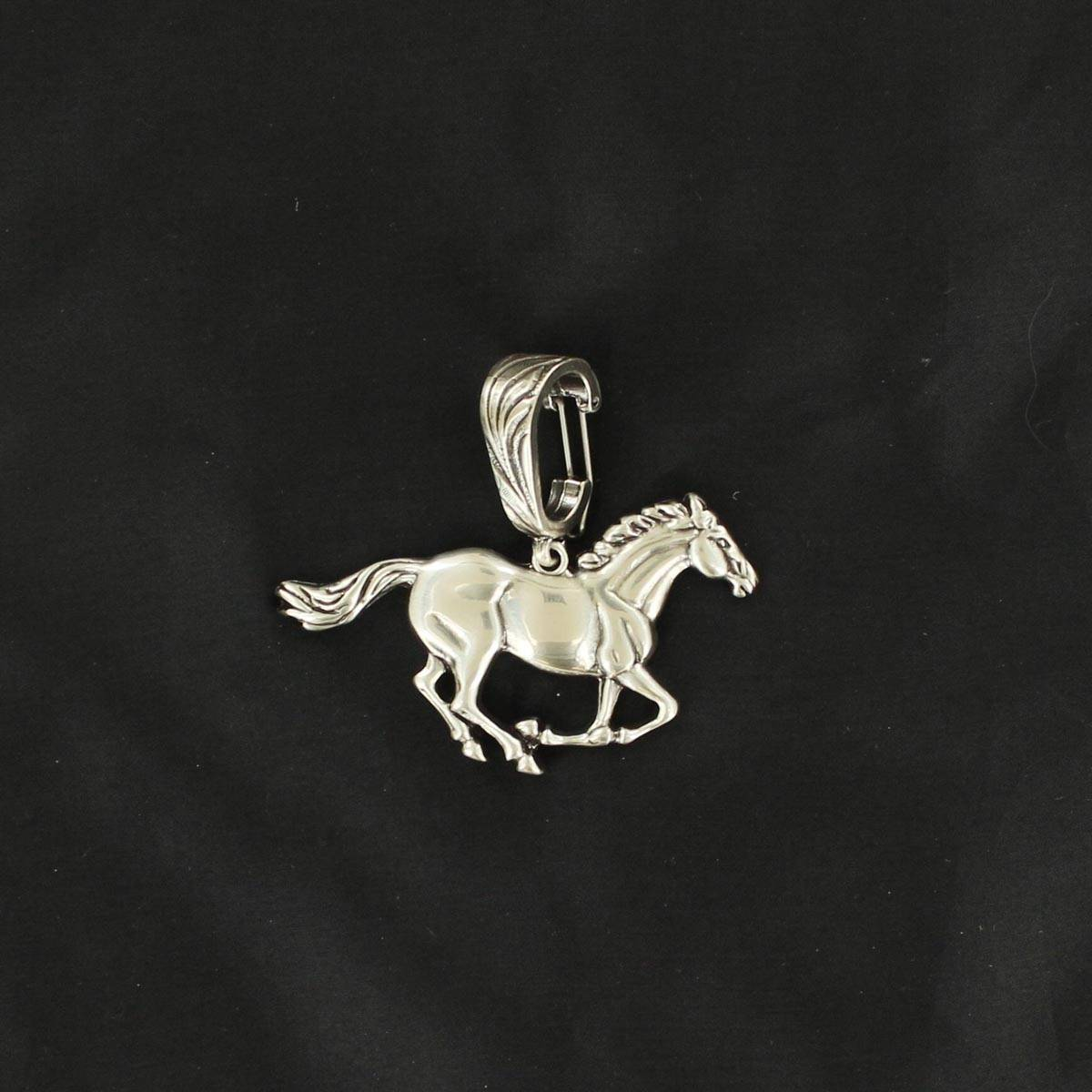 Western Charm Running Horse Pendant