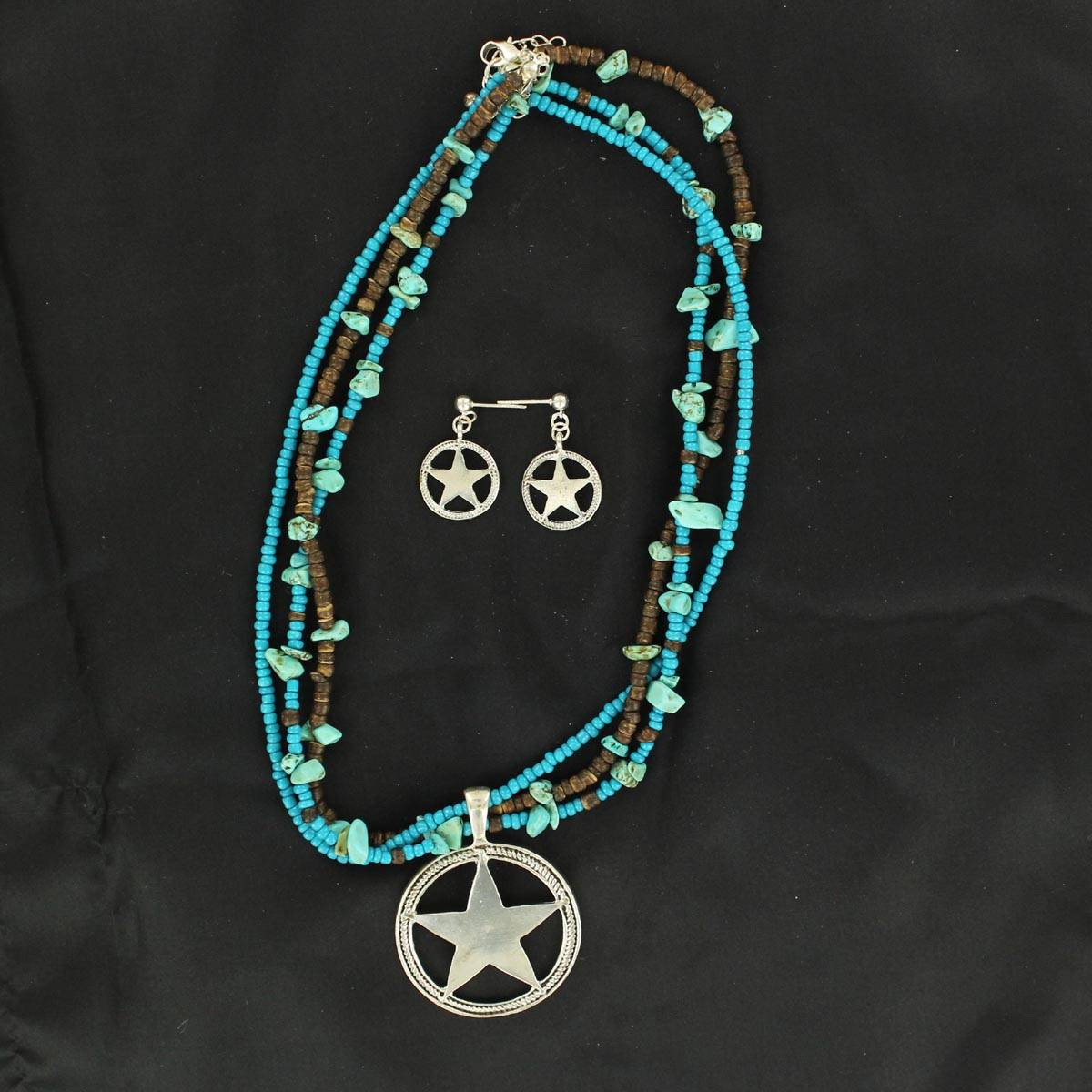 Blazin Roxx Star Pendant Necklace Set