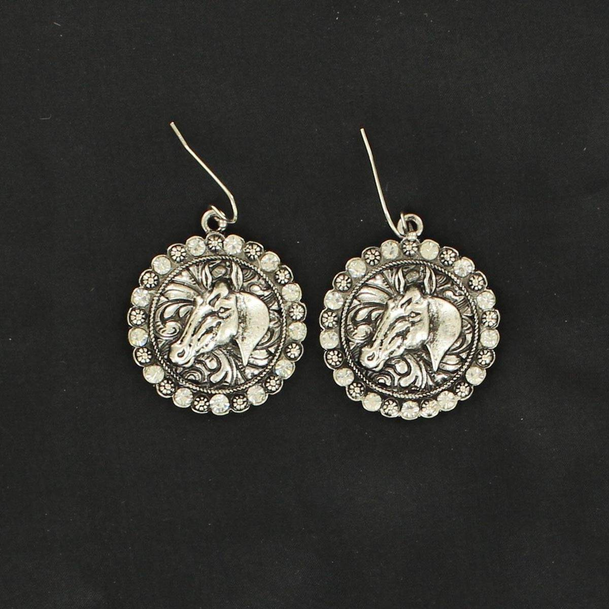 Blazin Roxx Horsehead Concho Earrings