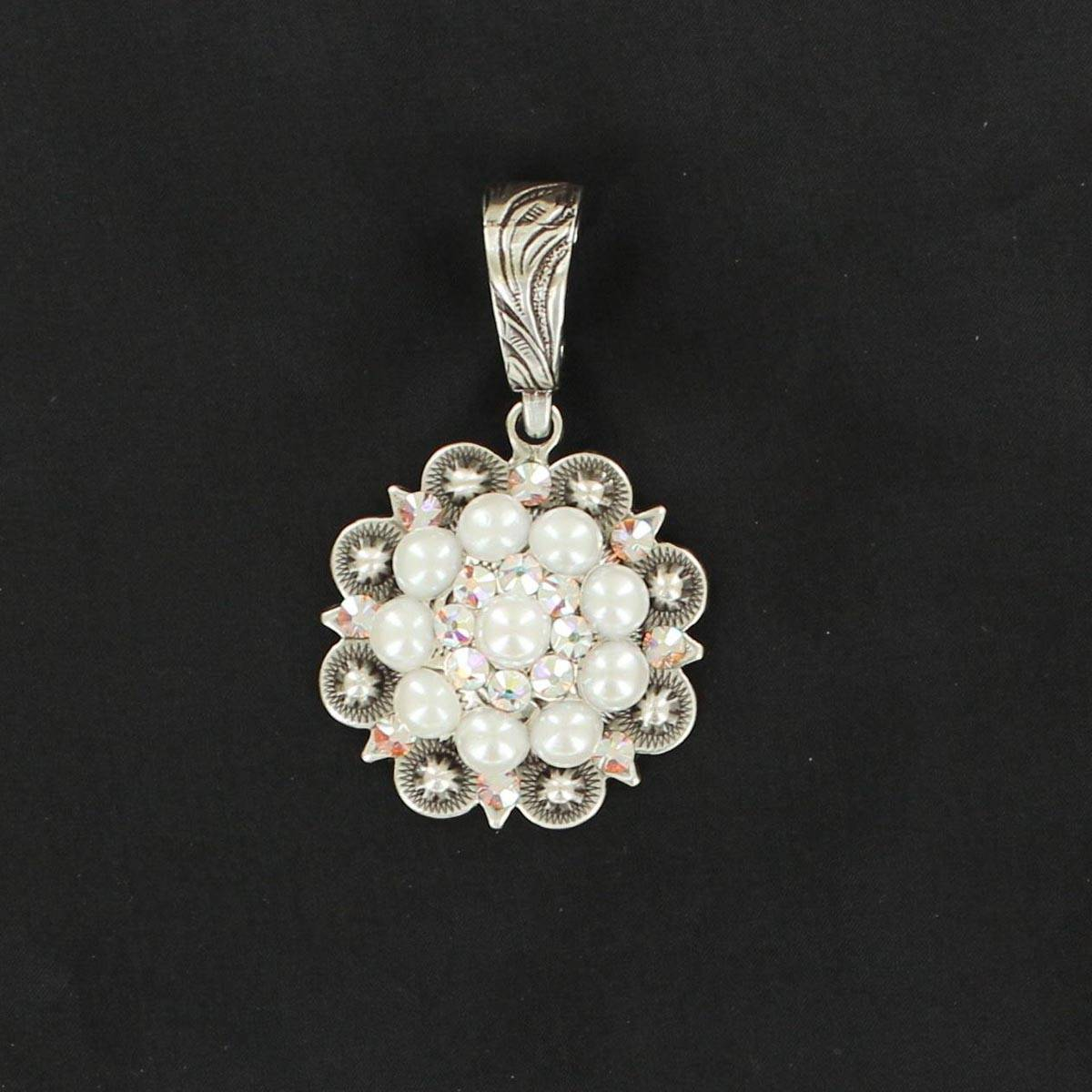 Western Charm Berry Concho/Pearl Pendant