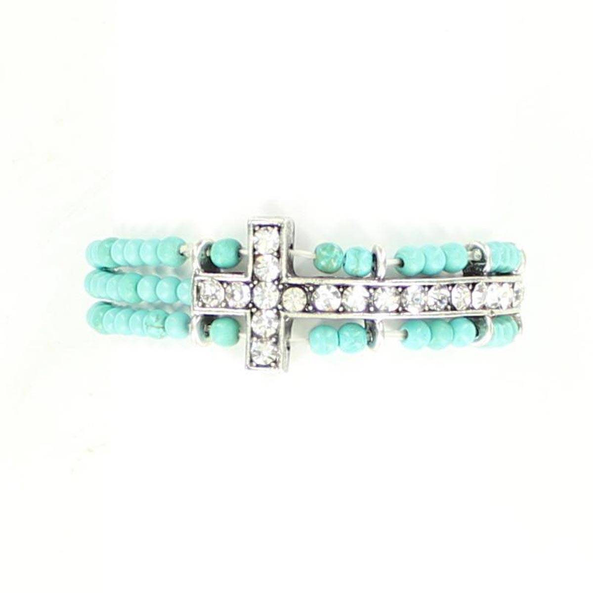 Blazin Roxx Adult Cross Bead Bracelet